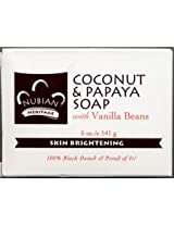 Nubian Heritage Coconut & Papaya Soap 5 Oz X 6 Bars