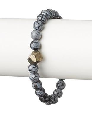 Stephen Oliver Snowflake Jasper Pyrite Bracelet