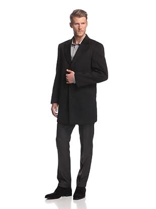 Martin Gordon Men's Peak Lapel Coat (Black)