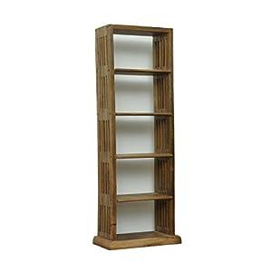 Mebelkart Light Brown Finish 5 Rack Book Shelves
