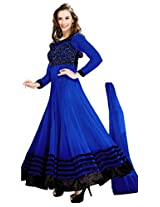 KP Indian Wear Online Faux Georgette Unstitched Dress Material (Free Size)