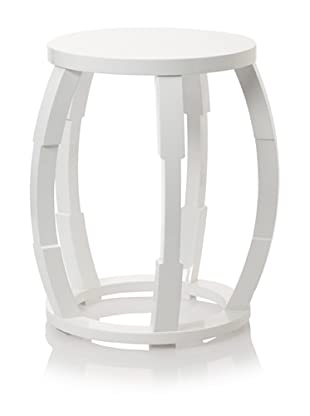 Barclay Butera Seaside Lacquered End Table (White)