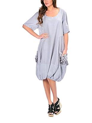 100% lino Vestido Clara