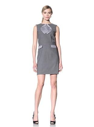 Luciano Barbera Women's Sleeveless Wool Dress (Grey)