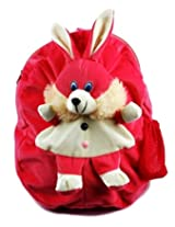 Rushi Enterprise Rabbit Cute Teddy Soft Toy School Bag for kids, Travelling Bag, Carry Bag, Picnic Bag, Teddy Bag (Pink)