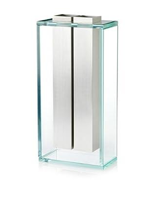 Badash Crystal Handcrafted Aluminum & Crystal Towers Vase