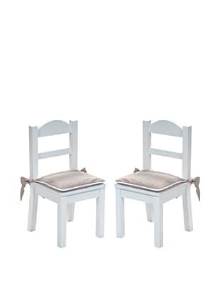 Pasito a Pasito Set / 2 Cojines (Beige / Blanco)