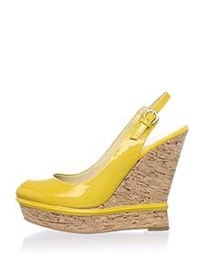 Luxury Rebel Women's Carolyn Wedge Pump (Mustard)