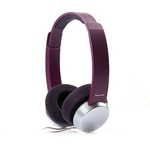 Panasonic RP-HXD3E-V Stylish Headphone with Powerful Sound (Purple)