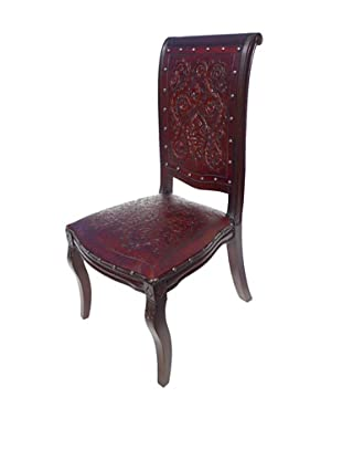 New World Trading Imperial Chair, Antique Brown