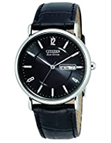 "Citizen Men s BM8240-03E ""Eco-Drive"" Stainless Steel, Black Leather Strap Watch"