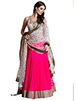 Crazy Villa Women's Gota Lehenga Choli (CR11_Pink_X-Large)