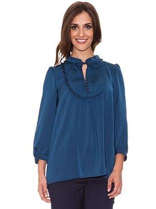 Cortefiel Bluse (Blau)