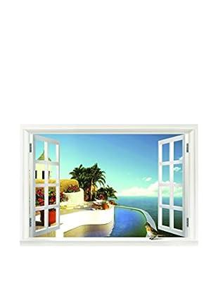 LO+DEMODA Wandtattoo Window Of Mediterranean Sea