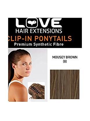 Love Hair Extensions Kunsthaar-Pferdeschwanz India mit Krokodilklemme 40,5cm, 8 Mousey Brown