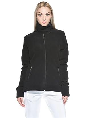 F.lli Campagnolo Damen Fleece Jacke (SCHWARZ)