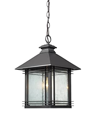 Elk Lighting 42303/1 Blackwell One Light Outdoor Pendant, Graphite