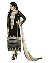 Fazals Black Georgette Salwar Suit