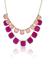 Shining Diva Fashion Geometrical Statement Necklace For Girls