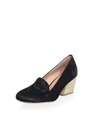 Fiel Women's Thompson Semi Wedge Loafer (Black)