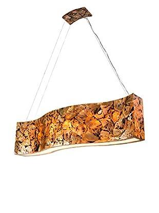 Varaluz Big 6-Light Linear Pendant, Chocolate Tiger Shell