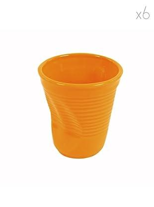 Kaleidos Set 6 Tazze Cappuccino (Arancio)