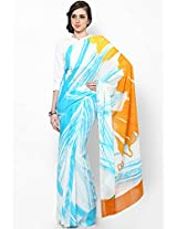 Georgette Multi Color Screen Printed Saree Satya Paul
