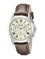 Fossil End-of-Season Chronograph White Dial Men Watch - FS4839