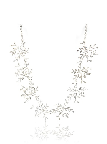Himatsingka Vine Half-Chain Sterling Silver Necklace