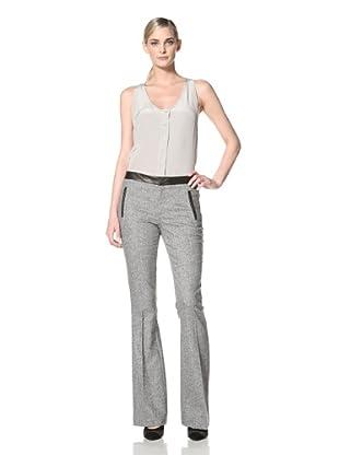 Chaiken Women's Brooklyn Slim Flare Pant (Black/White)