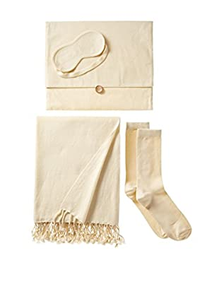 Nine Space Cashmere Travel Set, Cream