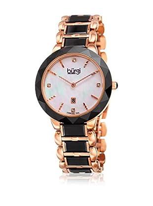 Bürgi Uhr mit japanischem Quarzuhrwerk Woman schwarz 35 mm