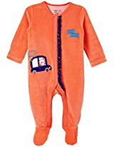 Infant Girls Vellore Sleepsuit, Pink (Newborn)