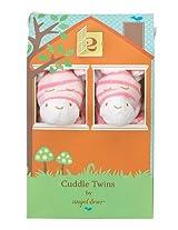 Angel Dear Cuddle Twin Set, Bright Pink Zebra