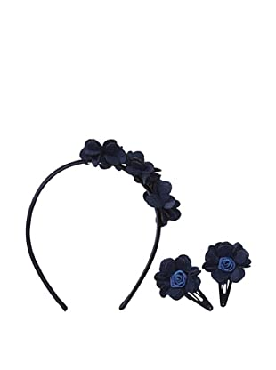 Liliella Navy Headband and Hairclip Set