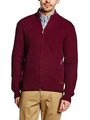 Dockers Cardigan Mock Neck Full Zip Swtr Merlot