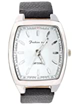 Optima Analogue Silver Dial Men Watch -1004-White