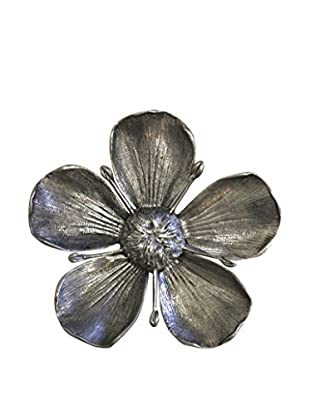 Gucci Convertible Pewter Flower Ashtray, Silver