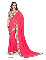 Shree laxmi creations women,s TEMATO colour chiffon saree