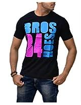 Londonhouze Mens T-Shirt -Black (X-Large)