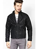 Black Quilted Jacket (Smart Fit)