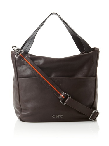 C'N'C CoSTUME NATIONAL Women's Small North South Shopper, Brown/Orange