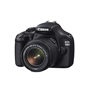 Canon EOS 1100D 12.2MP Digital SLR Camera (Black) with EF-S 18-55 IS II Lens, 4GB SD Card, Camera Bag