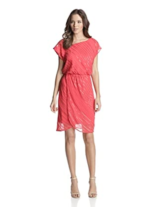 Vince Camuto Women's Sequined Asymmetrical Neck Dress (Paradise Pink)
