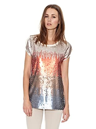 Mango Camiseta Sleek (Pomelo)