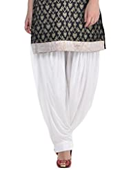 Sohniye Women's Viscose Patiala [GAKP02_White_Free Size]