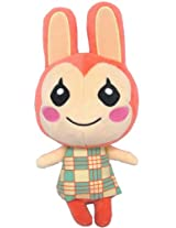 """Sanei Animal Crossing New Leaf Doll Bunnie/Lilian 9.5"""" Plush"""