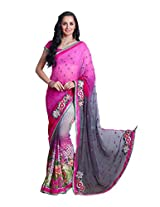 Pikasho Party Wear Cutpatch Saree 8003