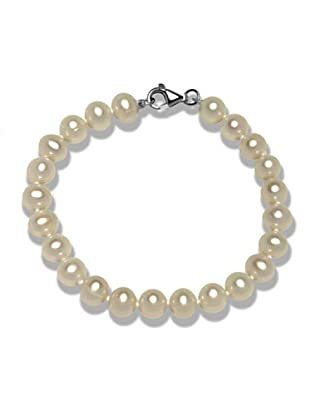 Valero Pearls 602014200 - Pulsera de mujer de plata de ley con perla de agua dulce, 19 cm
