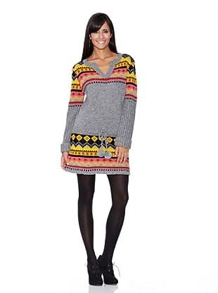 Peace & Love Vestido Tricotosa Yacar (antracita)